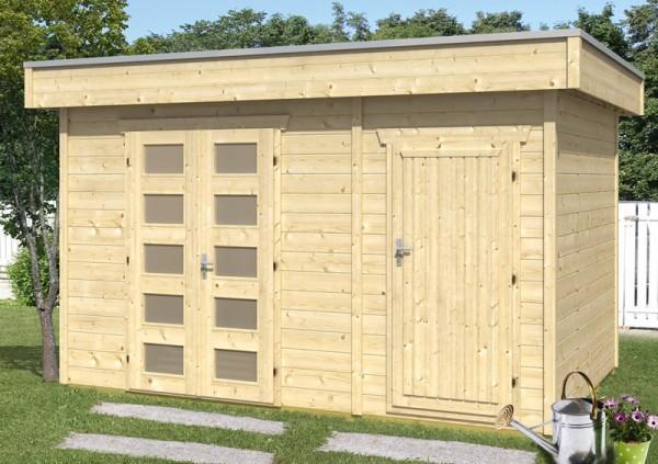 Skan Holz Gartenhaus Venlo 3, 380 x 250 cm, 28 mm, unbehandelt