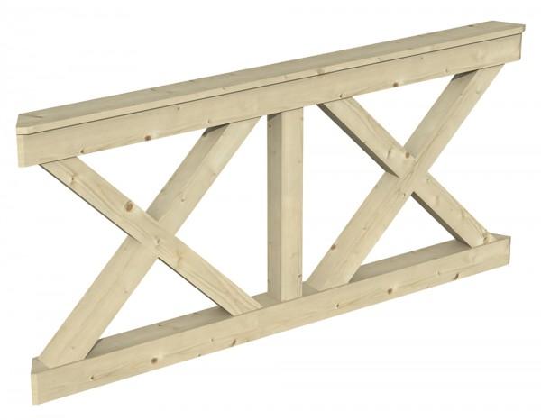 Skan Holz Brüstung 180 x 84 cm, Andreaskreuz, für Pavillon Nancy Größe 3