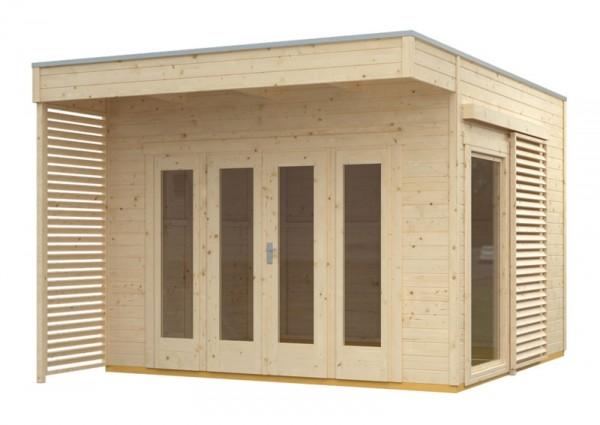 Skan Holz Gartenhaus Tokio 2, 340 x 340 cm, einschalig, unbehandelt