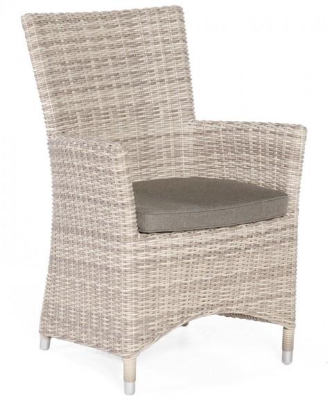 Sonnenpartner Sessel Ikarus, Kunststoffgeflecht, white-coral, inkl. Sitzkissen