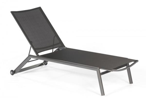 Sonnenpartner Liege Sonoa, Aluminium anthrazit / Textilgewebe schwarz