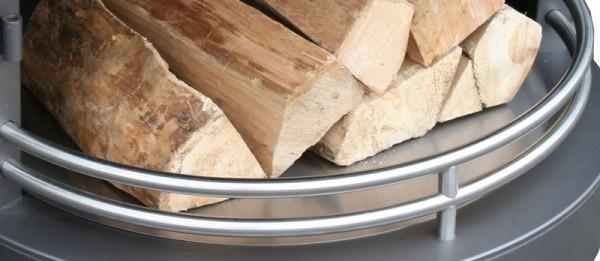Firestar Schutzblech für Holzlagerung für Grillkamin / Gartenkamin DN 700, Edelstahl