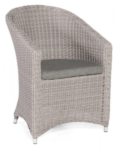 Sonnenpartner Sessel Solana, Kunststoffgeflecht, stone-grey, inkl. Sitzkissen