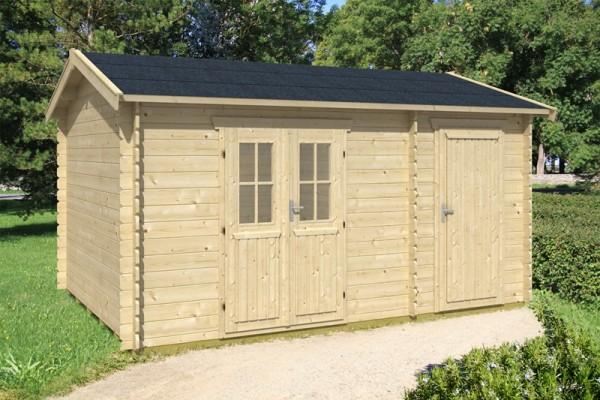 Skan Holz Gartenhaus Alcudia, 420 x 300 cm, 28 mm, unbehandelt