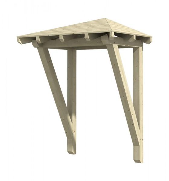 Skan Holz Vordach Wesel, Typ 2, Einzeltür