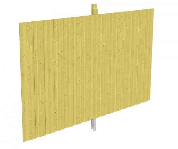 Skan Holz Rückwand 291 x 220 cm, Deckelschalung, imprägniertes Nadelholz