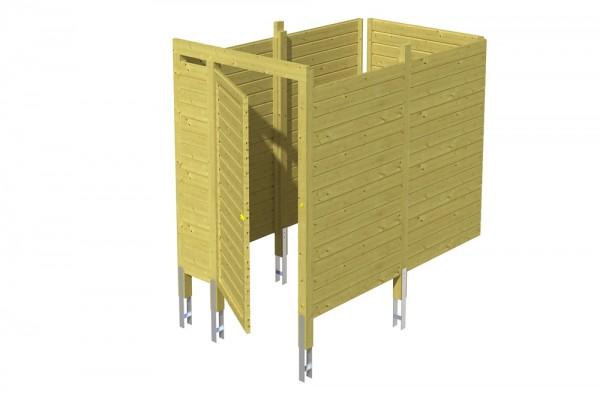 Skan Holz Abstellraum C7, impr. Nadelholz, Profilschalung, 275 x 164 cm