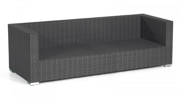 Sonnenpartner Lounge-Sofa Residence, 3-Sitzer, Kunststoffgeflecht, graphit-schwarz