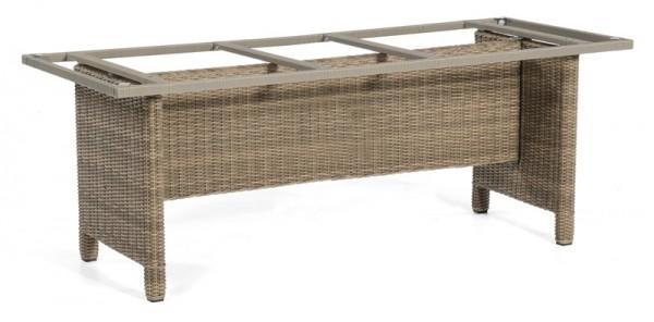 Sonnenpartner Tisch Base-Polyrattan, Kunststoffgeflecht rustic-stream, 200 x 100 cm
