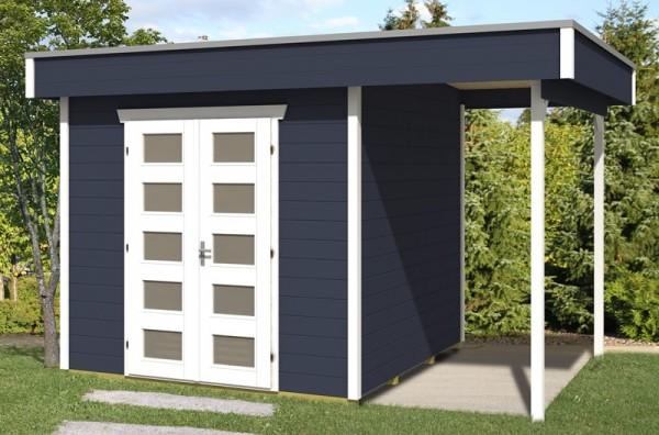 Skan Holz Gartenhaus Venlo 2, 380 x 250 cm, 28 mm, schiefergrau