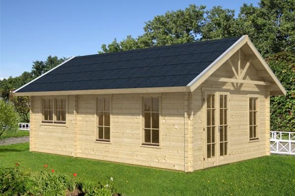 Skan Holz Gartenhaus Toronto 4, 420 x 660 cm, 70plus, unbehandelt
