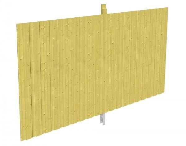 Skan Holz Rückwand 355 x 220 cm, Deckelschalung, imprägniertes Nadelholz