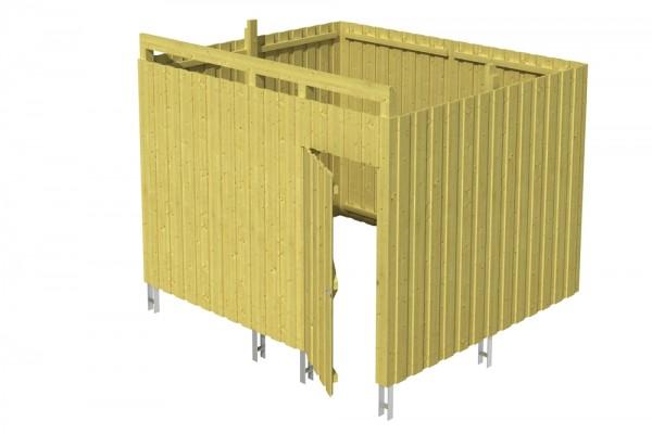 Skan Holz Abstellraum A8, impr. Nadelholz, Deckelschalung, 275 x 317 cm