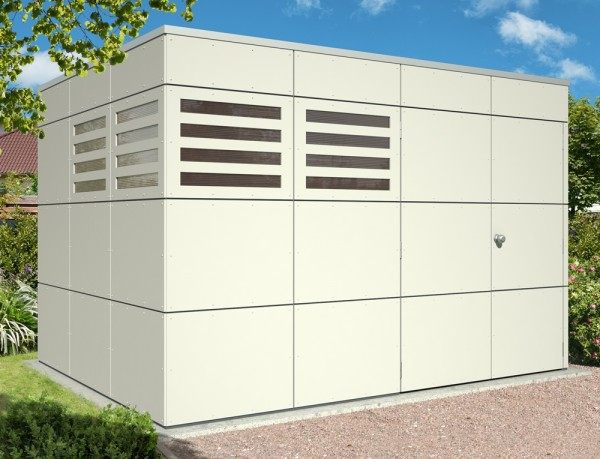 Skan Holz CrossCube-Haus Melbourne 4, 337 x 253 cm, telegrau