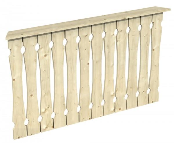 Skan Holz Brüstung 150 x 96 cm, Balkonschalung, für Pavillon Nice Größe 2
