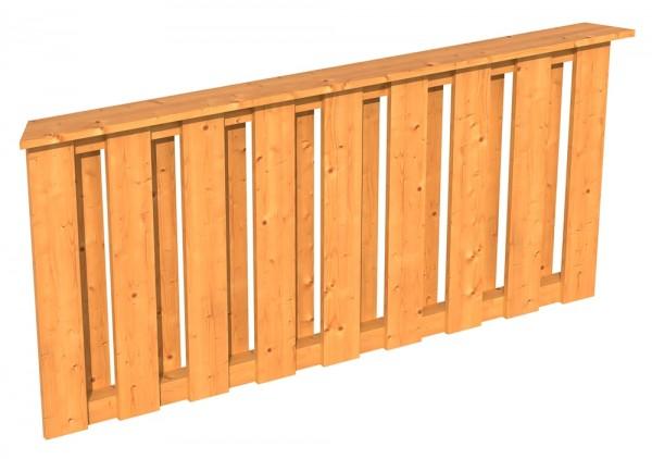 Skan Holz Brüstung 150 x 84 cm, Deckelschalung, für Pavillon Lyon Größe 2