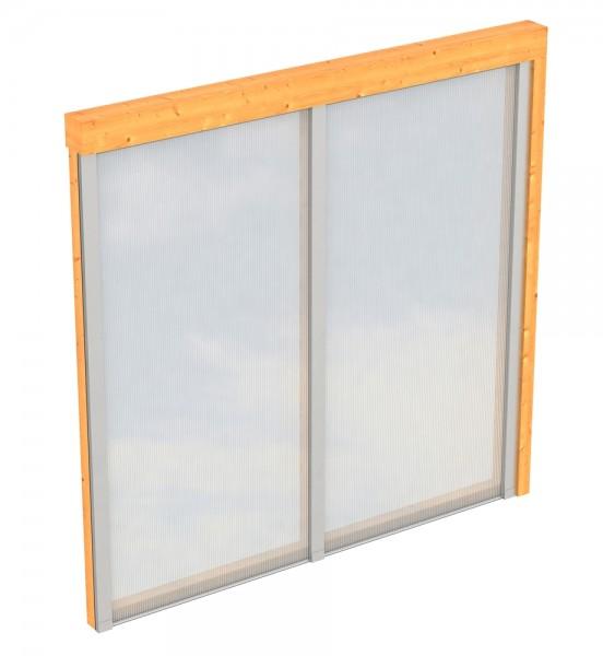 Skan Holz Polycarbonat-Seitenwand 205 x 200 cm, für Douglasien-Terrassenüberdachungen