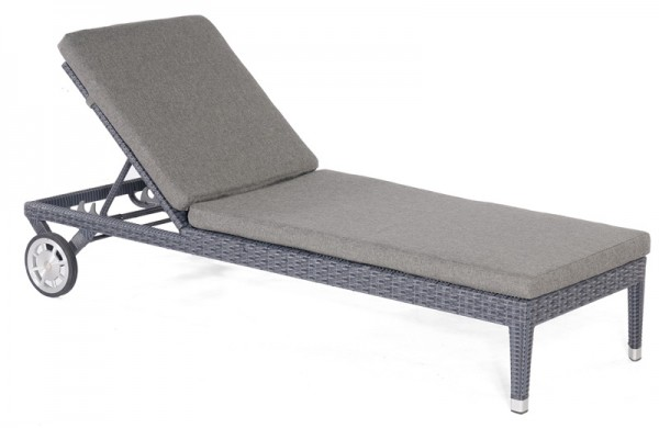 Sonnenpartner Liege Caicos, Aluminium / Kunststoffgeflecht graphit-schwarz, inkl. Kissen