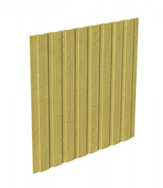 Skan Holz Seitenwand 141 x 200 cm, Deckelschalung, imprägniertes Nadelholz