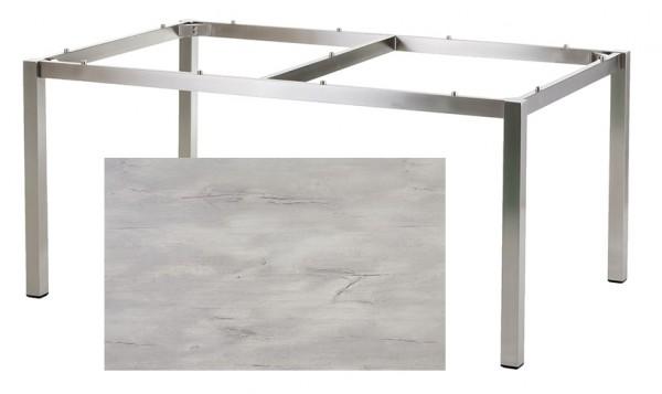 Diamond Garden Tisch San Marino, Edelstahl/Nautic Oak, 160 x 100 cm