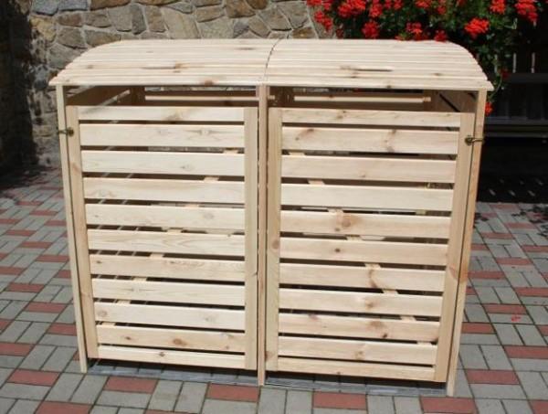 Promadino Mülltonnenbox Vario III für 2 Tonnen, natur