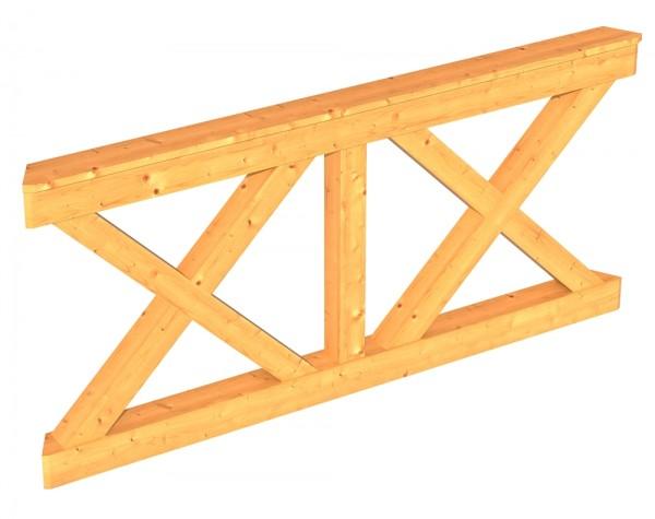 Skan Holz Brüstung 180 x 84 cm, Andreaskreuz, für Pavillon Colmar Größe 3