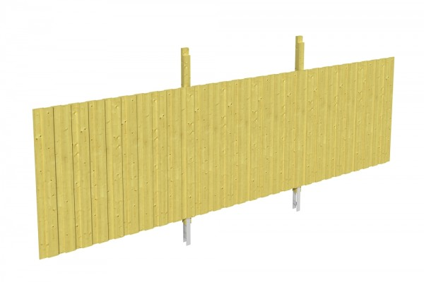 Skan Holz Rückwand 550 x 180 cm, Deckelschalung, imprägniertes Nadelholz