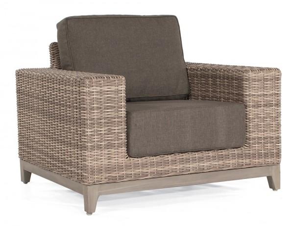 Sonnenpartner Lounge-Sessel Thor, Kunststoffgeflecht, white-coral