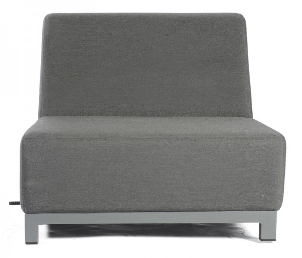 Sonnenpartner Lounge-Mittelmodul / Sessel Solitaire, Aluminium / Outdoor-Textil, anthrazit