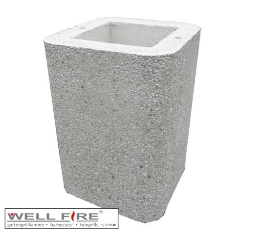 Wellfire Kaminverlängerung / Haubenverlängerung Nova weiß, 40 cm
