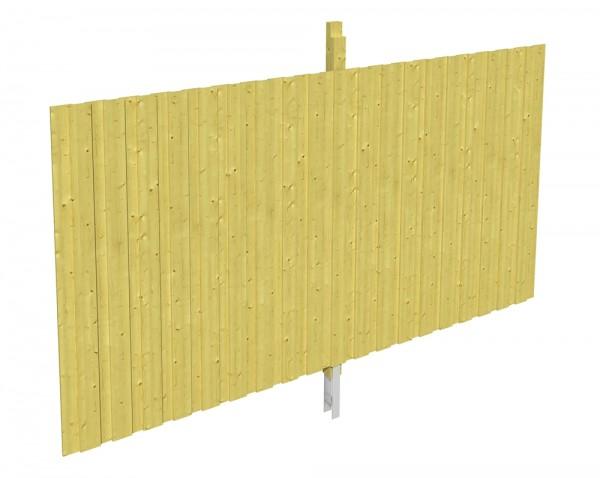 Skan Holz Rückwand 355 x 200 cm, Deckelschalung, imprägniertes Nadelholz