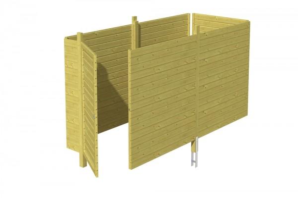 Skan Holz Abstellraum C3, impr. Nadelholz, Profilschalung, 378 x 164 cm