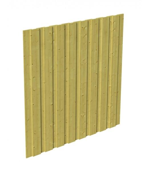 Skan Holz Seitenwand 141 x 180 cm, Deckelschalung, imprägniertes Nadelholz
