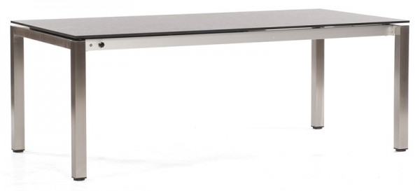 Abbildung zeigt den Tisch mit Tischplatte in beton-hell.