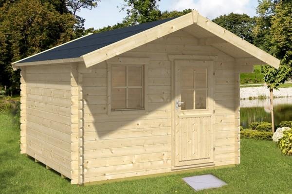 Skan Holz Gartenhaus Como 3, 300 x 300 cm, 28 mm, unbehandelt