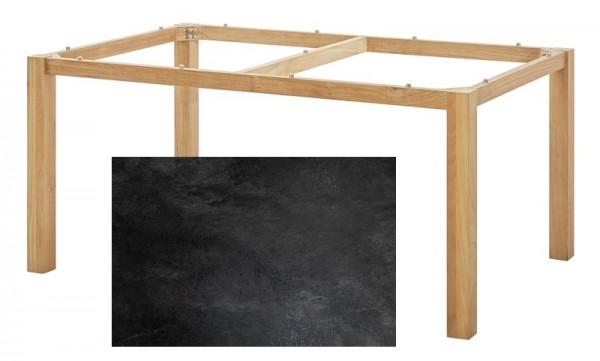 Diamond Garden Tisch San Marino, Premium Teak Natur/Schiefer, 160 x 100 cm