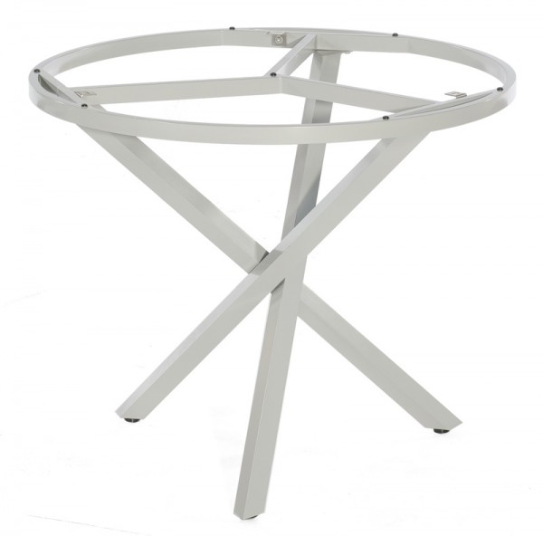 Sonnenpartner Tisch Base-Spectra rund, Aluminium silber, Ø 100 cm