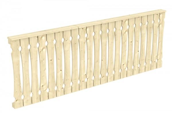 Skan Holz Brüstung 270 x 96 cm, Balkonschalung, für Leimholz-Terrassenüberdachungen