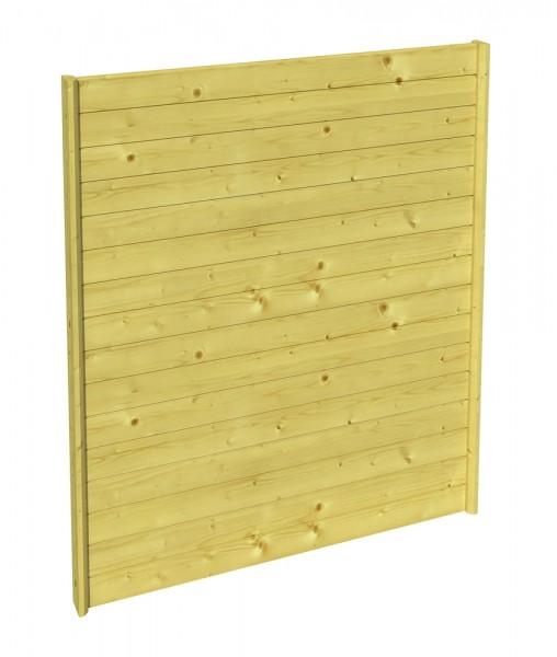 Skan Holz Seitenwand 141 x 200 cm, Profilschalung, imprägniertes Nadelholz