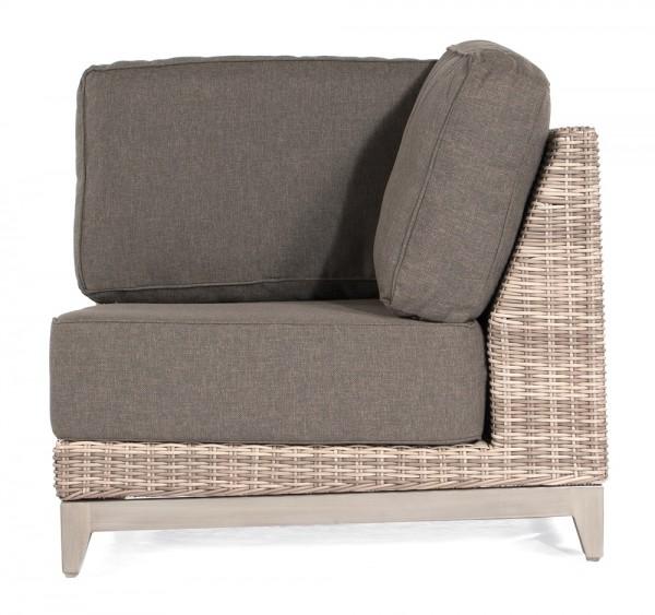 Sonnenpartner Lounge-Eckmodul Thor, 1-Sitzer, Kunststoffgeflecht, white-coral