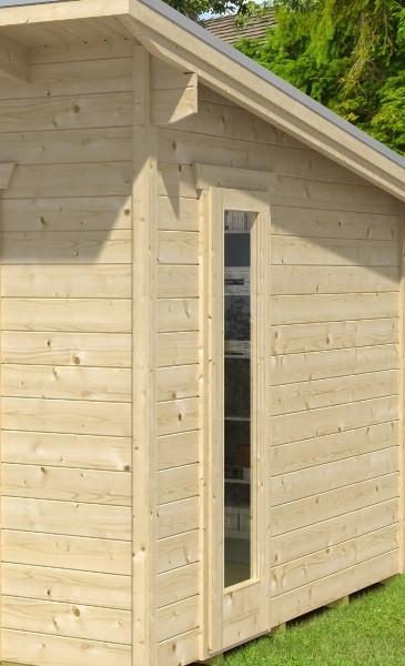 Skan Holz Panoramafenster für Gartenhaus Ostende, 28 mm
