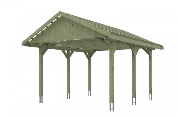 Skan Holz Satteldach-Carport Wallgau 430 x 500 cm, imprägniert