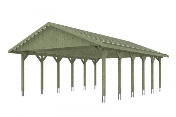 Skan Holz Satteldach-Carport Wallgau 620 x 900 cm, imprägniert