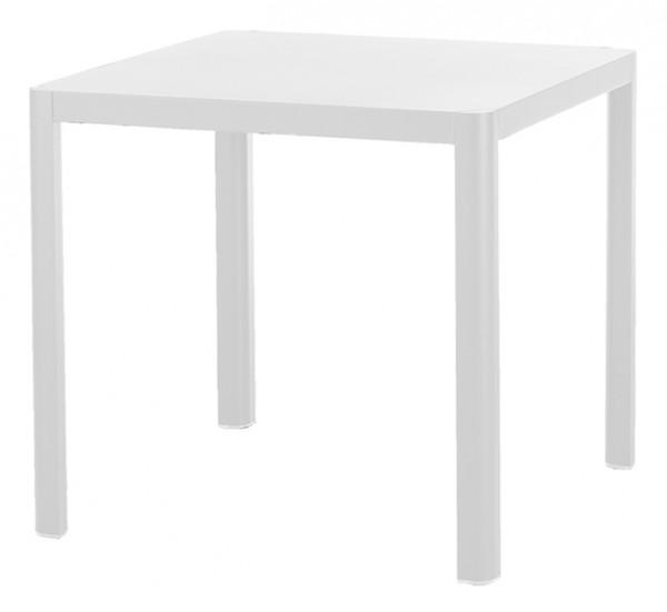 Diamond Garden Tisch Kingston, Aluminium weiß, 80 x 80 cm