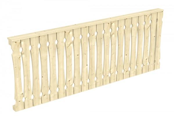 Skan Holz Seitenwand 255 x 96 cm, Balkonschalung, für Leimholz-Terrassenüberdachungen
