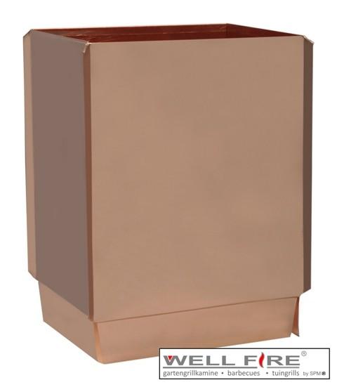 Wellfire Kaminverlängerung / Haubenverlängerung Toskana Kupfer, 30 cm