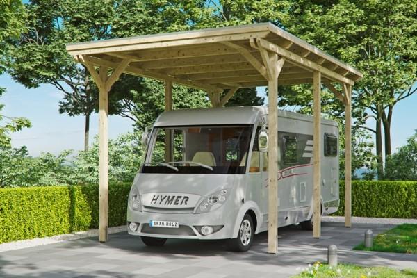 Skan Holz Caravan Carport Emsland, Leimholz, 404 x 604 cm