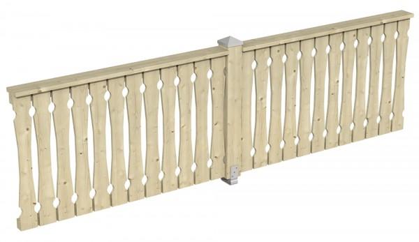 Skan Holz Brüstung 335 x 96 cm, Balkonschalung, für Pavillons Cannes und Orleans Größe 2