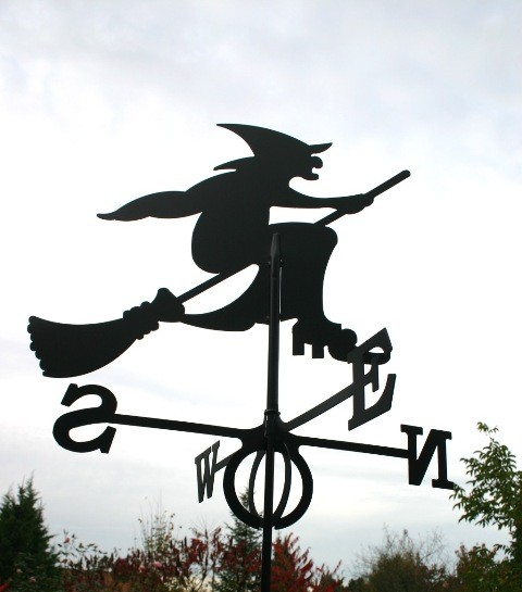 SvenskaV Wetterfahne Hexe groß, schwarz