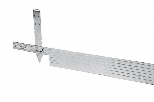 Alu Mevo Edge Pro Aluminium Randbegrenzung, silber, Stärke 3,2 mm, L 244 x H 10,2 cm